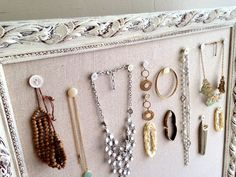 Jewelry Organizer Cork Board Large Bulletin Board Pin Board Farmhouse Decor Kitchen Wall Decor White Fabric Memo Board Office Organizer