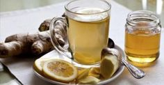 Anti-Inflammatory Ginger Root Tea: Drink this tea to ease gut inflammation and boost your liver health. Pour 1 C Boiling Water over: inch slice Ginger Root 1 Juiced Lemon Wedge 3 Mint Leaves 1 serving-Enjoy! Healthy Drinks, Healthy Eating, Healthy Recipes, Healthy Habits, Healthy Food, Ginger Water Benefits, Ginger Root Tea, Ginger Beer, Ginger Juice