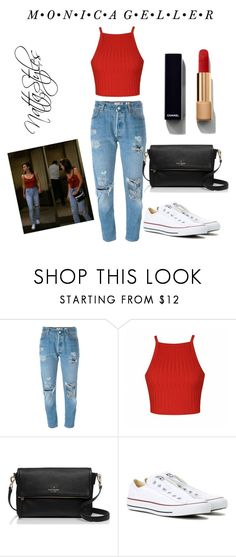 """Monica Geller"" by nattaca on Polyvore featuring Levi's, Ally Fashion, Kate Spade, Converse, Chanel and converse"