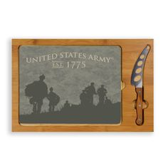 Picnic Time Legacy Icon Soldier Silhouettes Cutting Board
