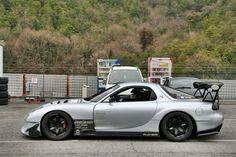 RX-7 FD3S RE-Amemiya GT-AD widebody silver