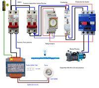 Esquemas eléctricos: esquema electrico  de una piscina
