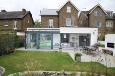 modern addition to old house