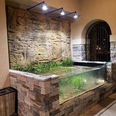 It's a pond and an aquarium on the patio of this home in Texas. All filtration and heating is remotely placed. Completed… Source by negarakita Aquarium Aquascape, Turtle Aquarium, Aquarium Terrarium, Aquarium Stand, Turtle Pond, Nature Aquarium, Home Aquarium, Aquariums, Aquarium Design