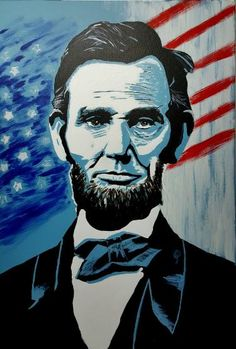 "Saatchi Art Artist Hazu Ionut; Painting, ""Abraham Lincoln"" #art"