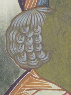 Byzantine Icons, Byzantine Art, Religious Icons, Religious Art, Paint Icon, Catholic Art, Orthodox Icons, Hair And Beard Styles, Ikon