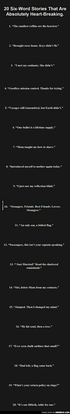 6 word memoirs...