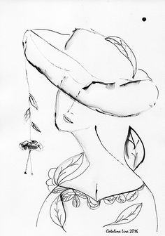 """A woman"". 20x30 cm. Paper. Gouache. http://www.facebook.com/thecatalinalira"