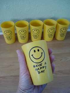 1970s Yellow Gold Smiley Face Juice Glass Tumbler by bycinbyhand, $12.00 Love Smiley, Smiley Faces, Have A Happy Day, Are You Happy, Happy Smile, Happy Faces, Always Smile, Face Characters, Funny Picture Quotes