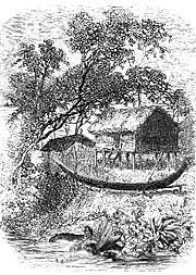 Sketch of a Cambodian Stilt House