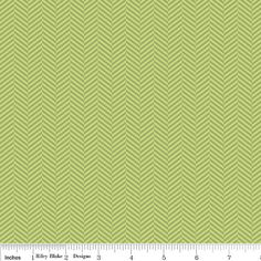 1 Yard Green Herringbone from the Apple Of by SistersandQuilters