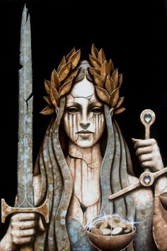 Lady justice, there's no such thing as justice, it's not there, it's cracked and full of faults