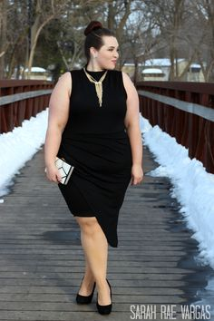 Sarah Rae Vargas wearing FTF's Tulip Dress #FTFSelfie #PlusSizeFashion #FashionToFigure #LittleBlackDress
