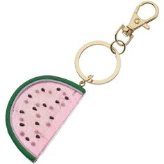 LC Lauren Conrad Glitter Watermelon Key Chain ($10) ❤ liked on Polyvore featuring accessories, multicolor, key fob chain and lc lauren conrad