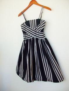 Striped sundress, 1970s.