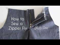 How to Sew a Zipper Fly - Melly Sews