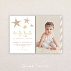 Girls Birthday Party Invitations. I Customize by Tambocreations