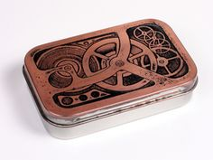Create an Altoid steampunk tin. The creator went to alot of trouble. I think I'll just paint it myself.