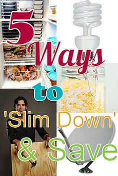 Slimming down your budget. really helpful ideas