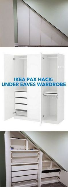 A Classy High Gloss Bespoke Loft Wardrobe (Under Eaves) www. hacks closet pax wardrobe How to make a Classy High Gloss Bespoke Loft Wardrobe - IKEA Hackers