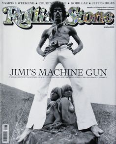 Jimi Hendrix on the cover of Rolling Stone Rock N Roll, Rolling Stone Magazine Cover, First Boyfriend, Jimi Hendrix Experience, Vampire Weekend, Jeff Bridges, Hommes Sexy, Janis Joplin, Rock Legends