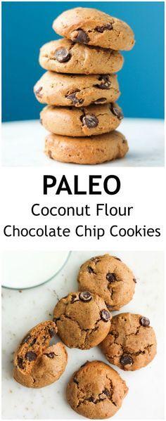 Paleo Coconut Flour Chocolate Chip Cookies