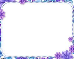 4304f0eb4ddf Sweet Floral Frame Powerpoint is a lovely template with flowers in blue and  violet colors
