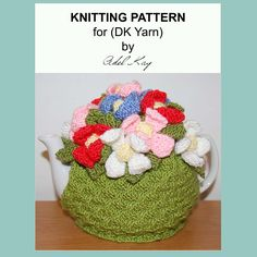 Phillipa Floral Flower Tea Cosy Knitting Pattern