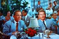 Movie Stars Bing Crosby and Danny Kaye WHITE CHRISTMAS