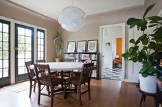 Paint colors that match this Apartment Therapy photo: SW 6216 Jasper, SW 2838 Polished Mahogany, SW 7006 Extra White, SW 7514 Foothills, SW 7652 Mineral Deposit