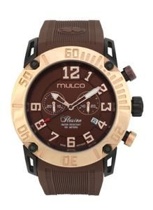 Mulco MW3-11011-033 Ilusion Clear Brown Chronograph Watch