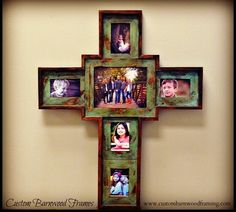 custom barnwood frames large custom cross green 10000 http