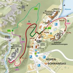 Map of the village of Hohenschwangau