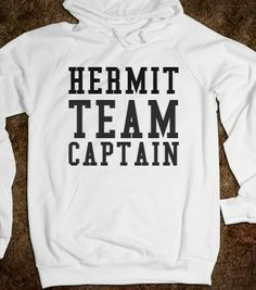 HERMIT TEAM CAPTAIN - glamfoxx.com - Skreened T-shirts, Organic Shirts, Hoodies, Kids Tees, Baby One-Pieces and Tote Bags