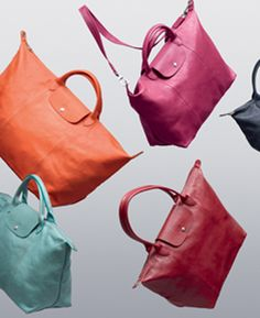 Lonchamp Paris spring line- I want one in every color please- well a girl can dream!