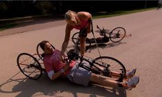 Ein Wendekreis wie ein Panzer. Sagt Jan Neumann über seinen Versuch mit dem Handbike.   Christiane Reppe | Deutsche Paralympische Mannschaft | Paralympic Games