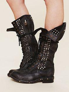 Jeffery Campbell studded combat boots