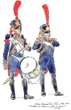French; Imperial Corps of Engineers, Sapper Drummer & Miner Fifer 1809-1810