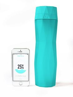 HidrateMe is a smart water bottle that syncs to your phone via Bluetooth to track your water intake, and it lights up to remind you to stay hydrated. The idea was thought up by entrepreneurs...