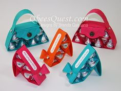 Qbee's Quest: Hershey's Purse and Shoe Tutorial