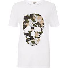 White camouflage skull print t-shirt £18.00