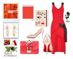 """""""2017 Pantone Trend:  Color Flame"""" by sparklemeetsclassic on Polyvore featuring Lanvin, Fendi, Louis Vuitton, Kate Spade and GEDEBE"""