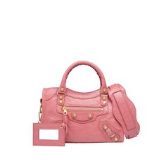 balenciaga pink giant city gold