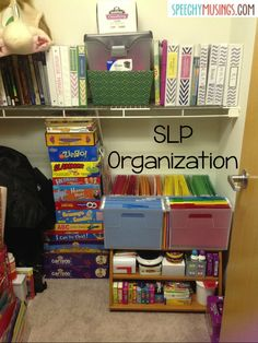 Organization and being an SLP go hand in hand. Unfortunately, I do not have my own entire speech room to pull kids into and to keep my speech materials in (and I tend to be a messy person in genera...