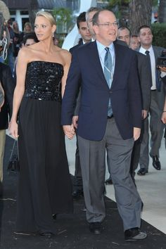 Pin for Later: Get to Know Princess Charlene of Monaco, the New Royal Mom!  The pair attended a fashion event in Monaco in May 2011. Source: Getty / Pascal Le Segretain