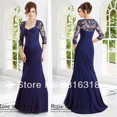 Vestidos Formales Free Shipping Chiffon Mermaid With Sleeve Navy Blue Mother Of The Bride Dresses Plus Size Mother Dress Wedding