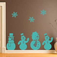 Christmas Wall Decorations santa's sleigh & reindeer, wall sticker decal. jingle all the way