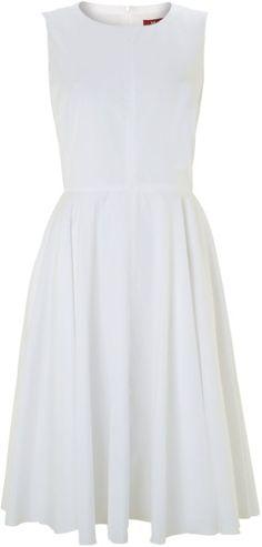 Ofidio sleeveless belted fit and flare dress MaxMara Studio