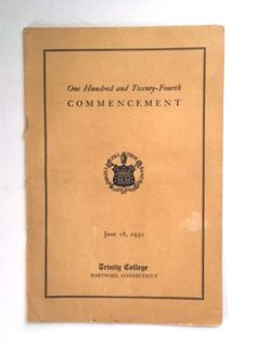 Vintage 1950 Trinity College Commencement Program Book Connecticut CT Ephemera