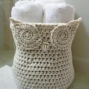 Owl Basket - via @Craftsy